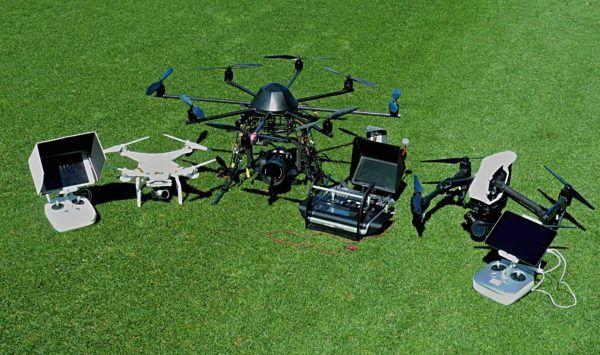 Drohnen Luftaufnahmen mit Octocopter Kameradrohnen