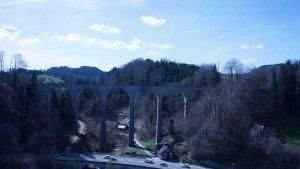 Guggenloch Viadukt 360° Panorama Luftaufnahmen Kameradrohnen