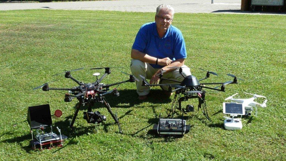 Drohnen Flotte 1a-Luftaufnahmen