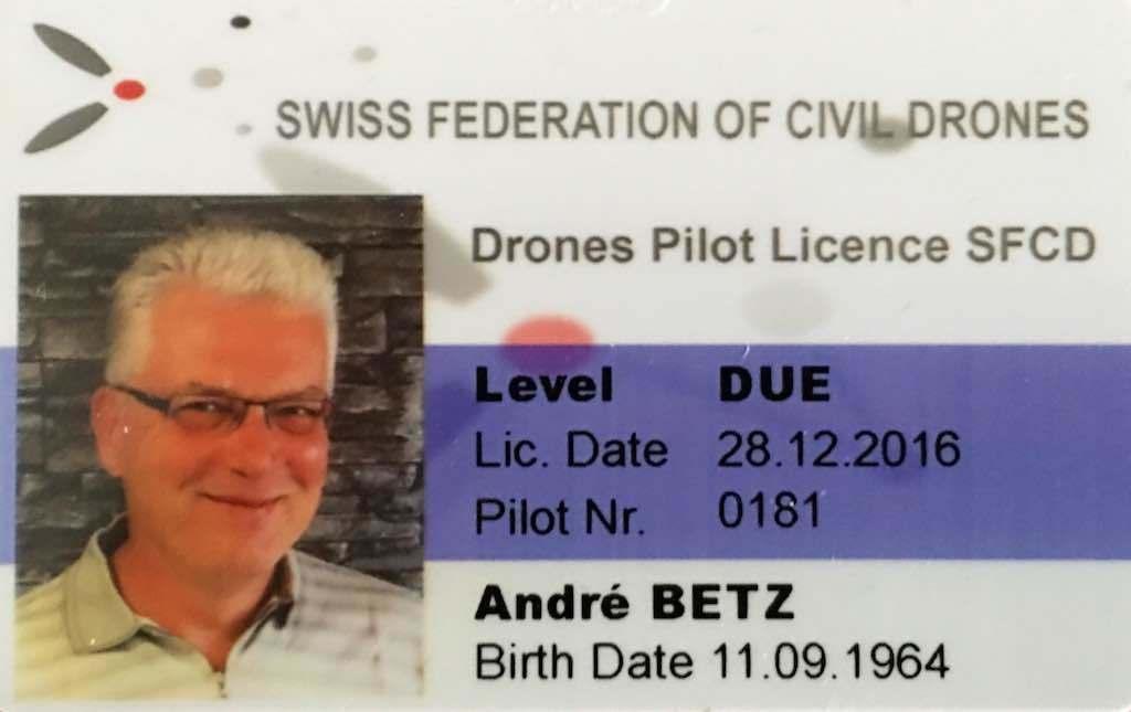 lizenzierter Drohnenpilot(SVZD-DUE)